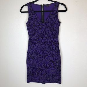G by GUESS Purple/Black Animal Print Bodycon Dress